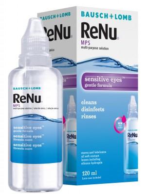 ReNu MPS tundlikele silmadele 120 ml + konteiner 49,2 €/l